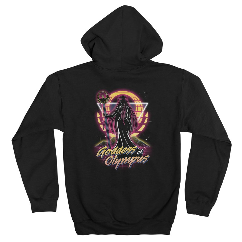 Retro Olympus Goddess Men's Zip-Up Hoody by Olipop Art & Design Shop