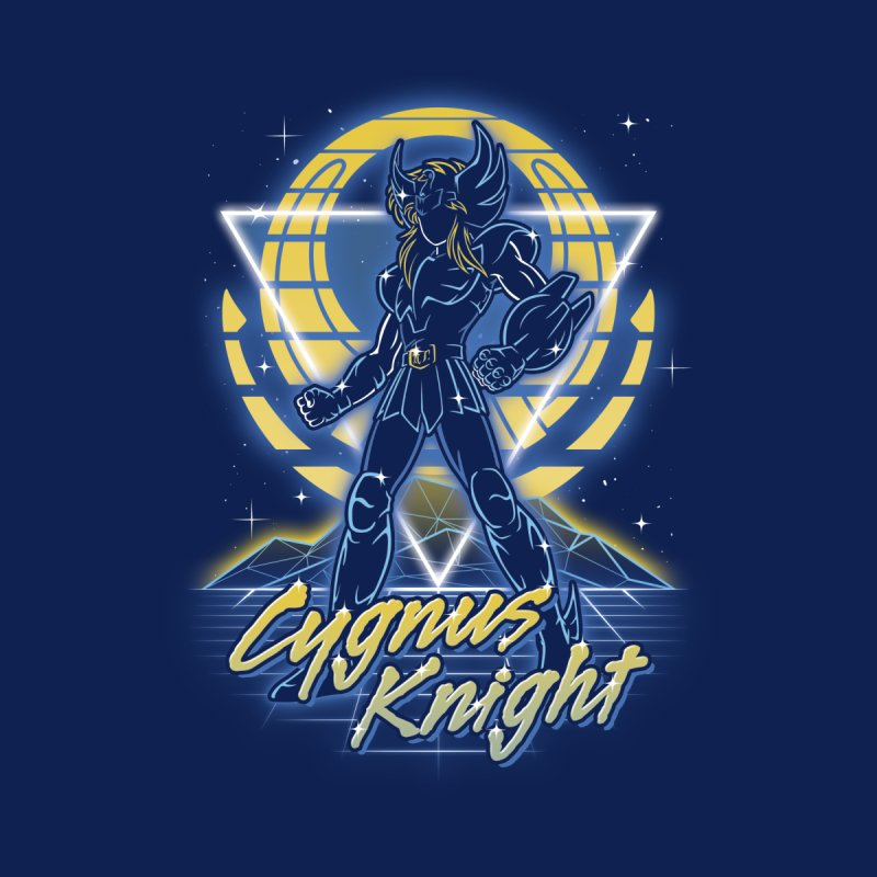 Retro Cygnus Knight Women's V-Neck by Olipop Art & Design Shop