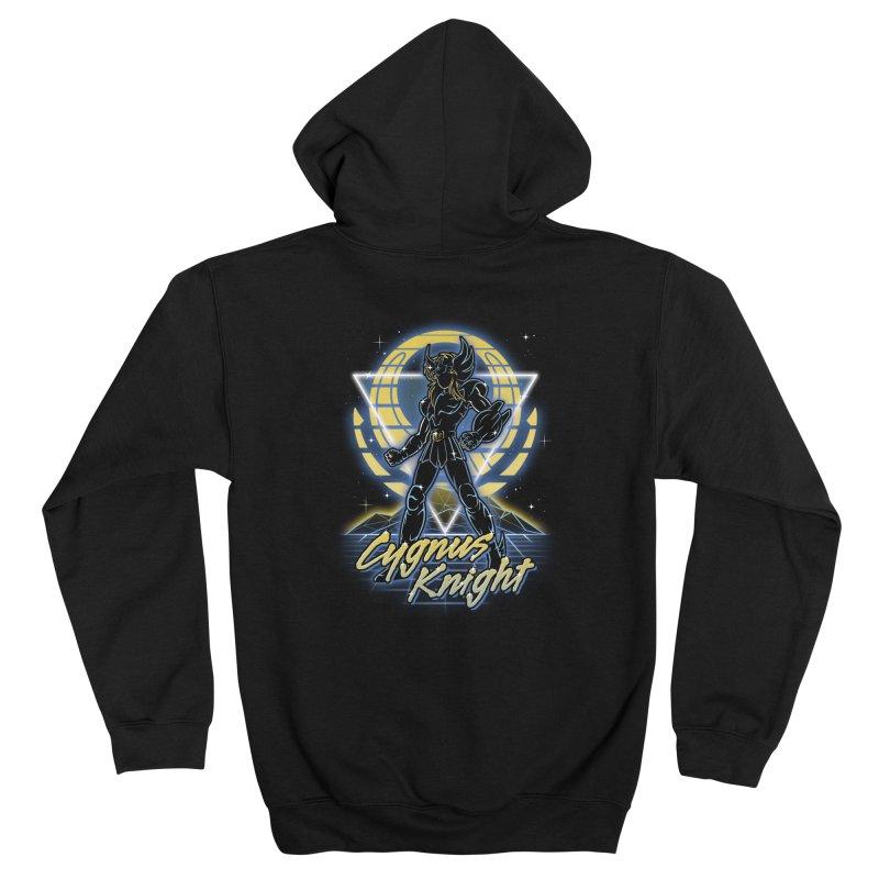 Retro Cygnus Knight Men's Zip-Up Hoody by Olipop Art & Design Shop