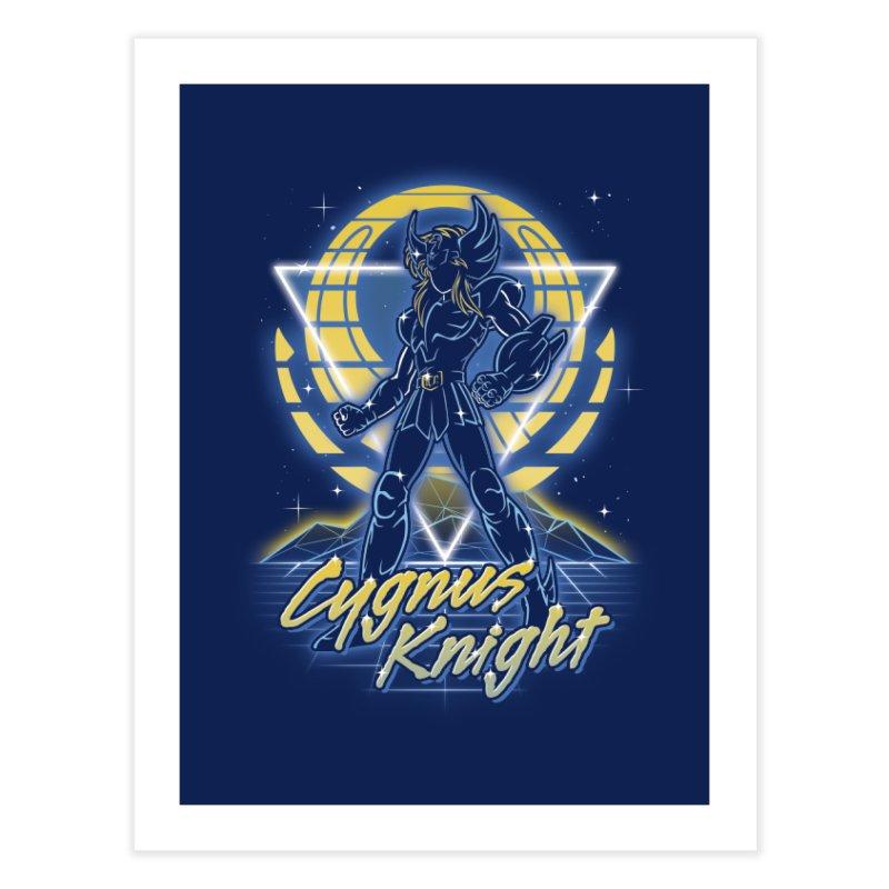 Retro Cygnus Knight Home Fine Art Print by Olipop Art & Design Shop
