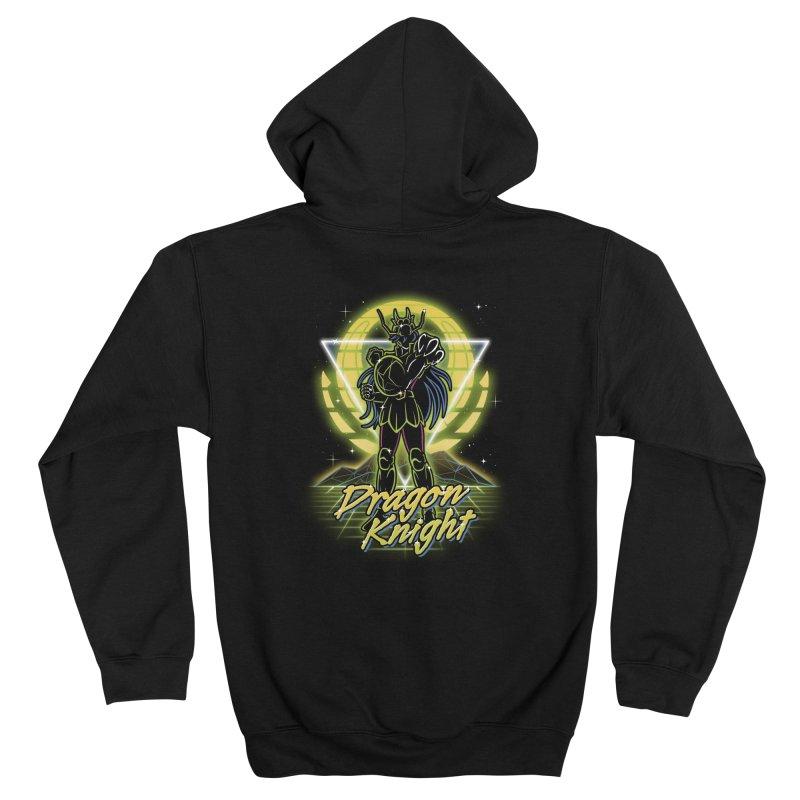 Retro Dragon Knight Men's Zip-Up Hoody by Olipop Art & Design Shop