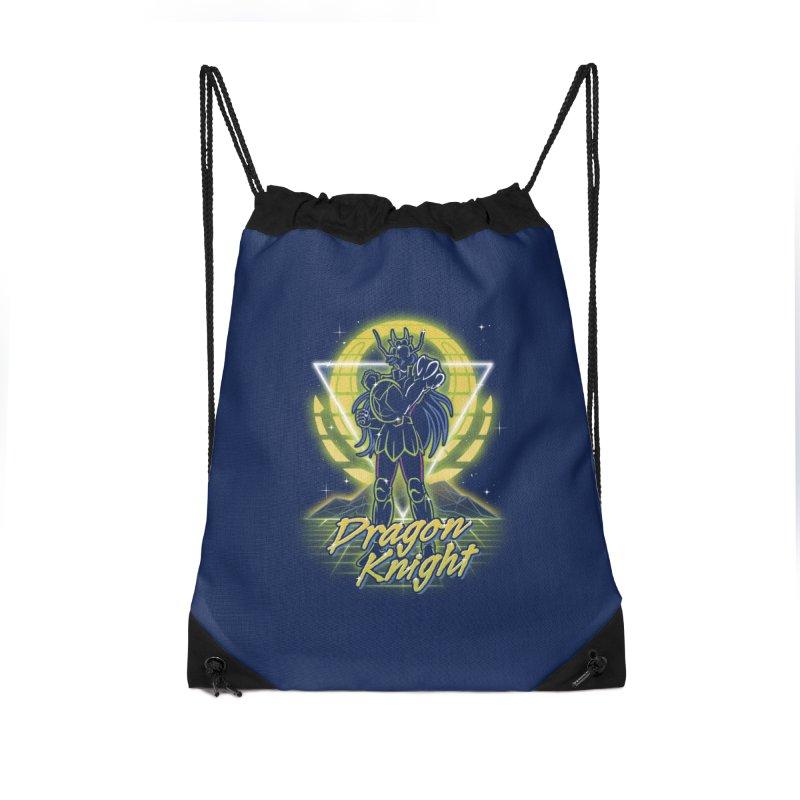 Retro Dragon Knight Accessories Bag by Olipop Art & Design Shop