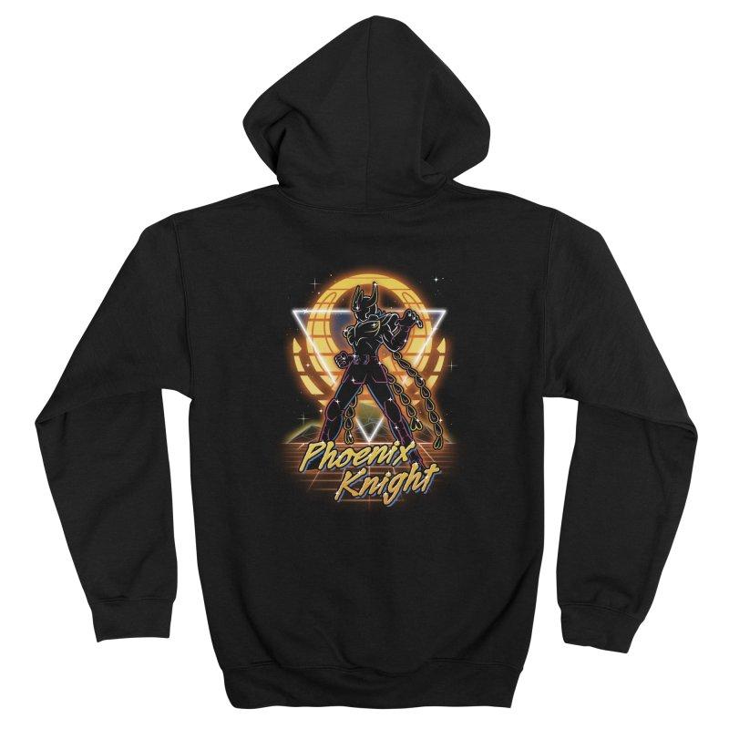 Retro Phoenix Knight Women's Zip-Up Hoody by Olipop Art & Design Shop
