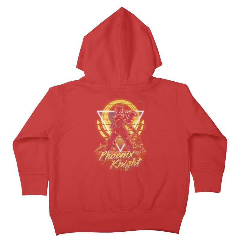 Retro Phoenix Knight Kids Toddler Zip-Up Hoody by Olipop Art & Design Shop