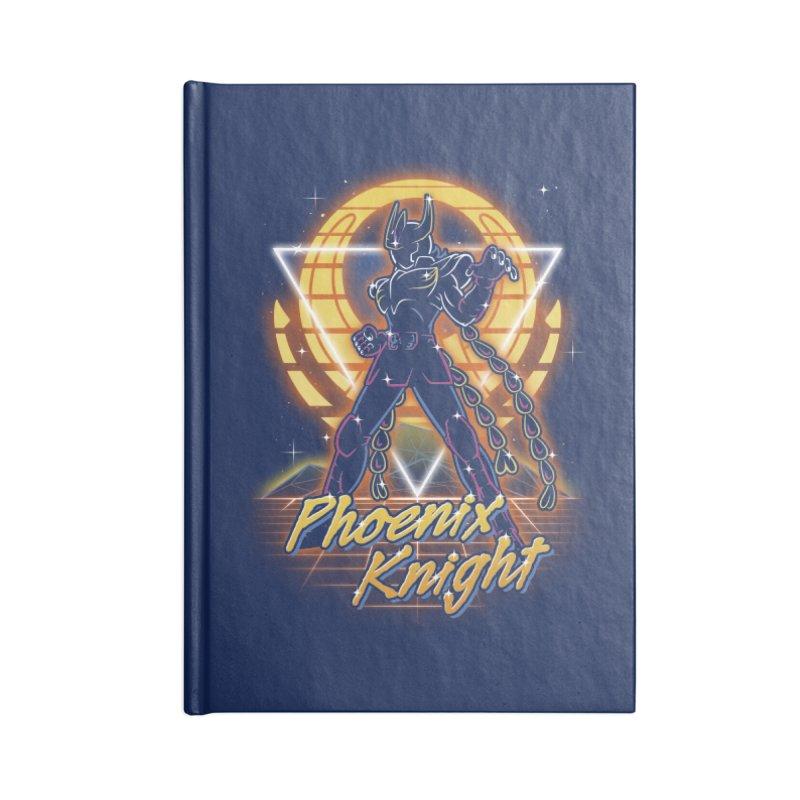 Retro Phoenix Knight Accessories Notebook by Olipop Art & Design Shop