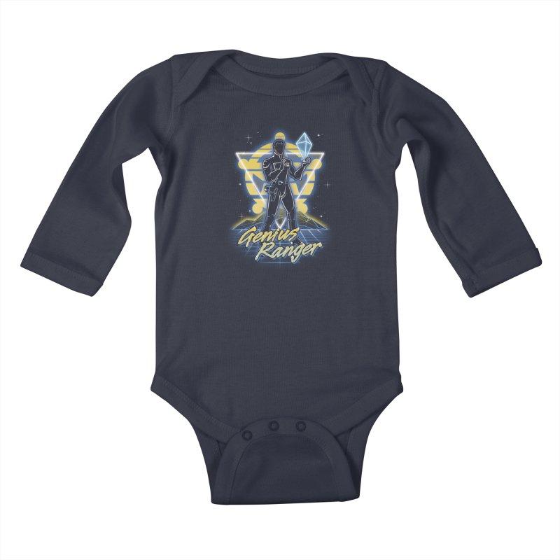 Retro Genius Soldier Kids Baby Longsleeve Bodysuit by Olipop Art & Design Shop