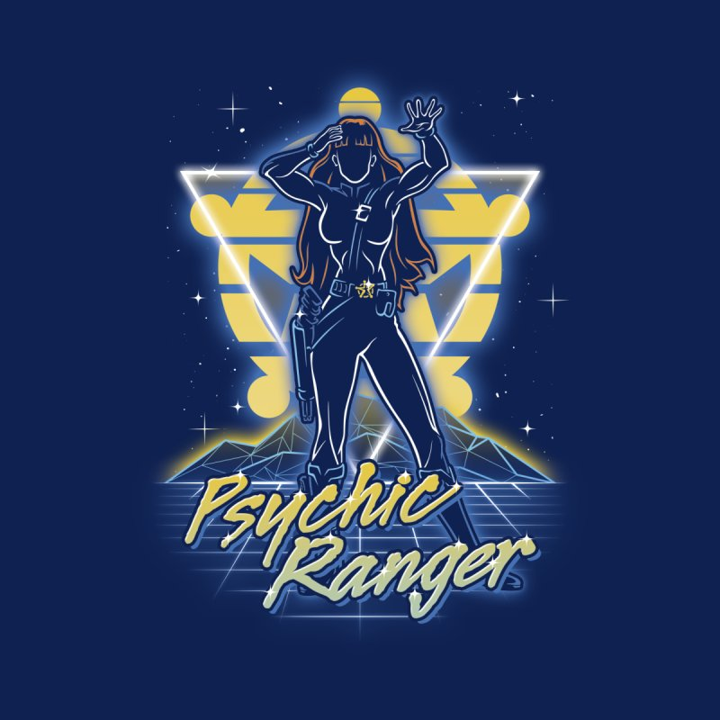 Retro Psychic Ranger Accessories Zip Pouch by Olipop Art & Design Shop