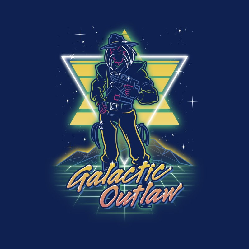 Retro Galactic Outlaw Kids T-Shirt by Olipop Art & Design Shop