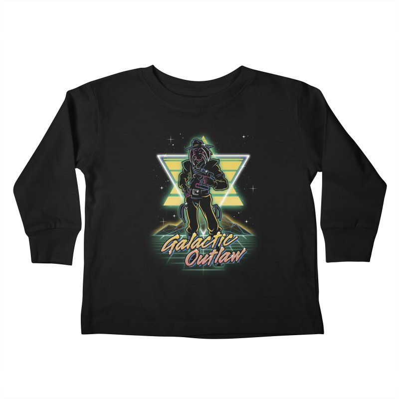 Retro Galactic Outlaw Kids Toddler Longsleeve T-Shirt by Olipop Art & Design Shop