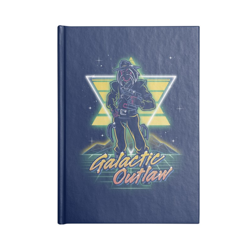 Retro Galactic Outlaw Accessories Notebook by Olipop Art & Design Shop
