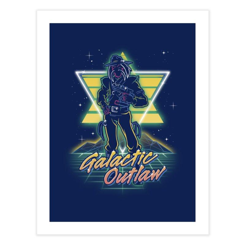 Retro Galactic Outlaw Home Fine Art Print by Olipop Art & Design Shop