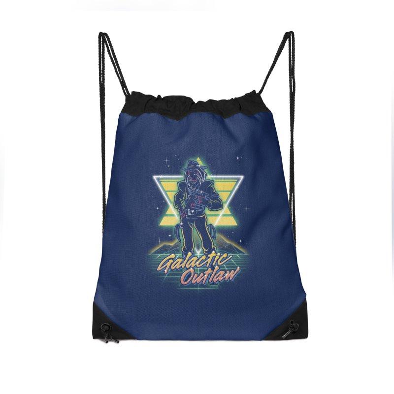 Retro Galactic Outlaw Accessories Bag by Olipop Art & Design Shop