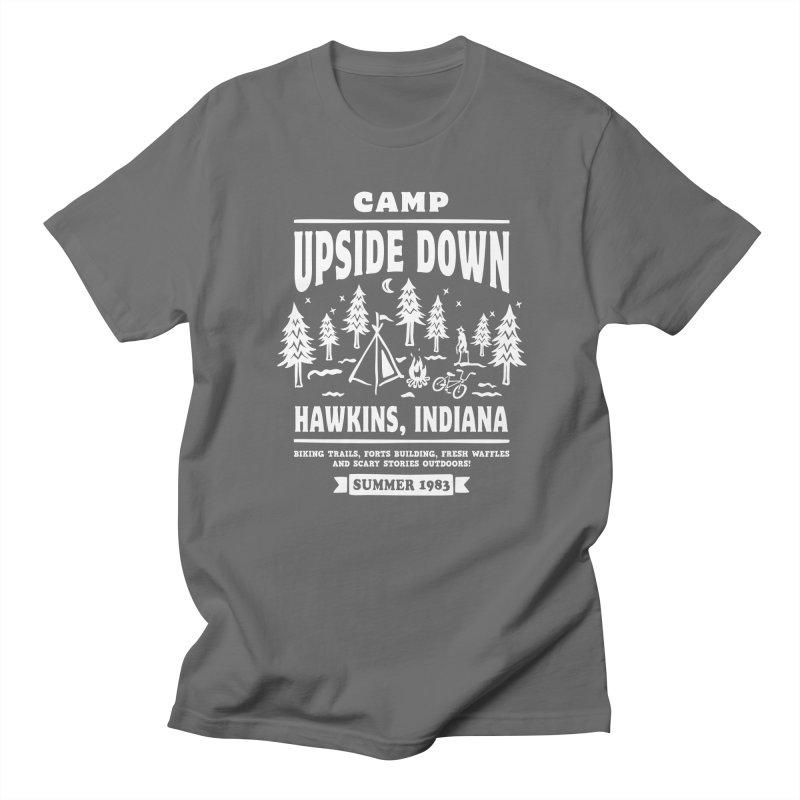 Camp Upside Down Men's French Terry Zip-Up Hoody by Olipop Art & Design Shop