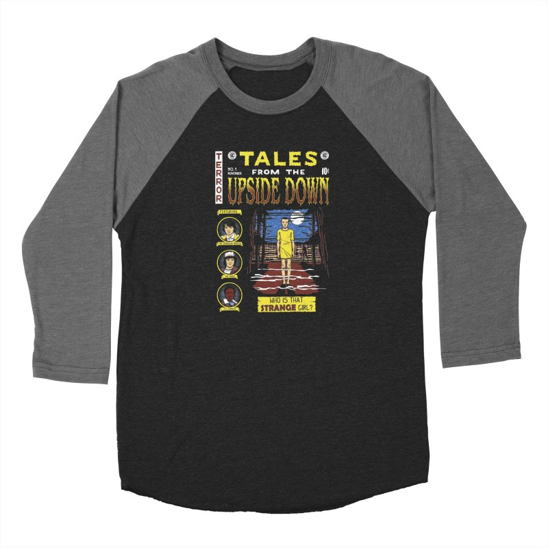 Tales from the Upside Down Men's Baseball Triblend Longsleeve T-Shirt by Olipop Art & Design Shop