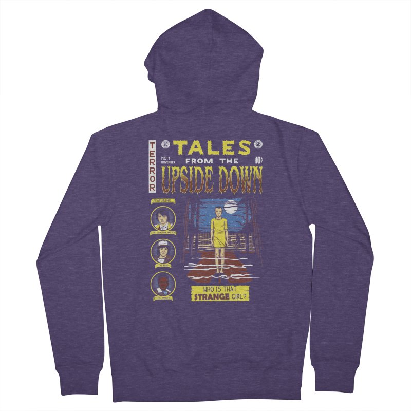 Tales from the Upside Down Men's French Terry Zip-Up Hoody by Olipop Art & Design Shop