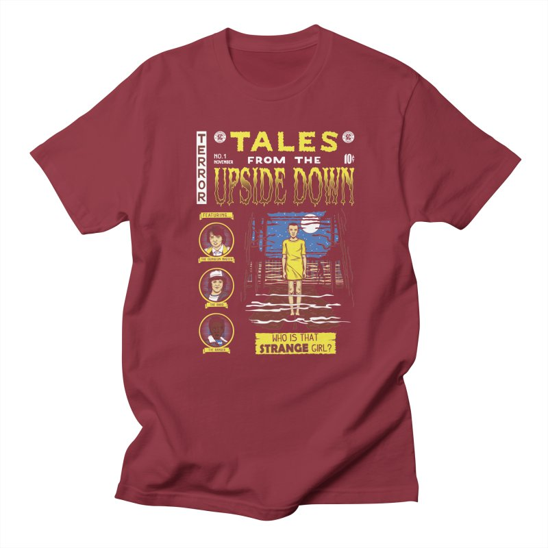 Tales from the Upside Down Men's T-Shirt by Olipop Art & Design Shop