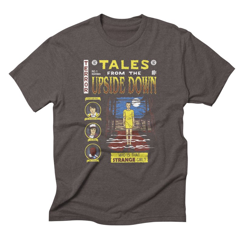 Tales from the Upside Down Men's Triblend T-Shirt by Olipop Art & Design Shop