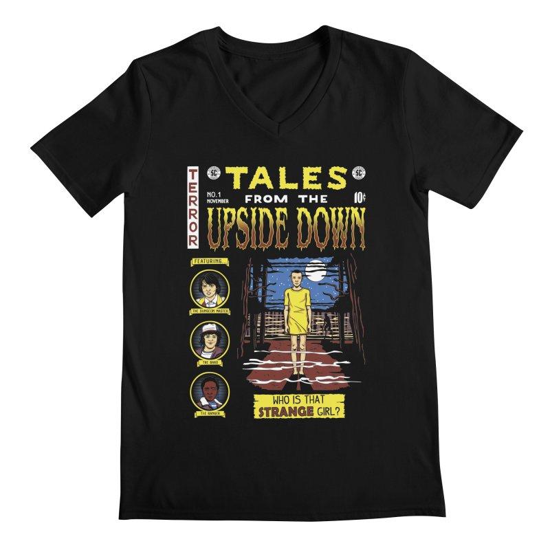 Tales from the Upside Down Men's Regular V-Neck by Olipop Art & Design Shop