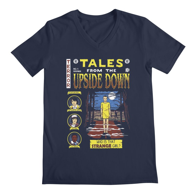 Tales from the Upside Down Men's Regular V-Neck by Olipop Art & Design Shop