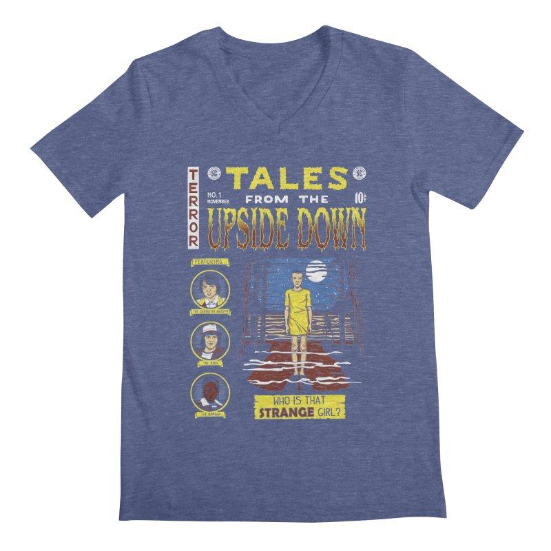 Tales from the Upside Down Men's V-Neck by Olipop Art & Design Shop