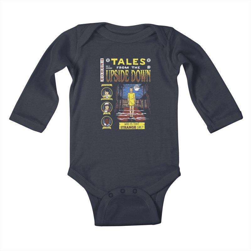Tales from the Upside Down Kids Baby Longsleeve Bodysuit by Olipop Art & Design Shop