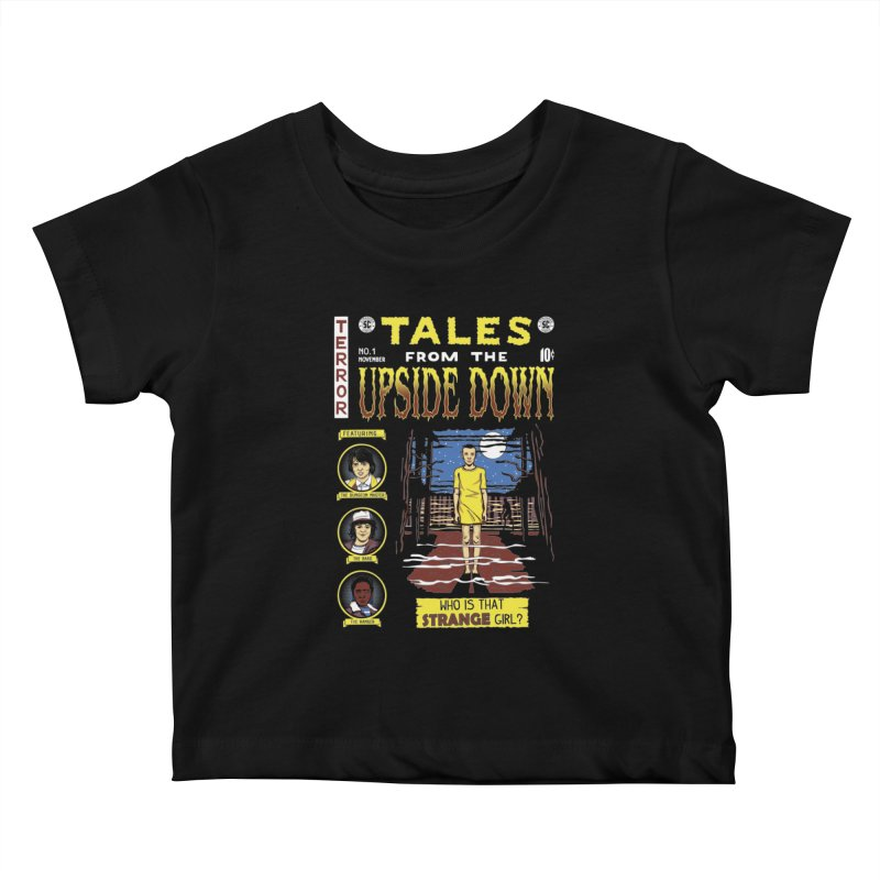 Tales from the Upside Down Kids Baby T-Shirt by Olipop Art & Design Shop