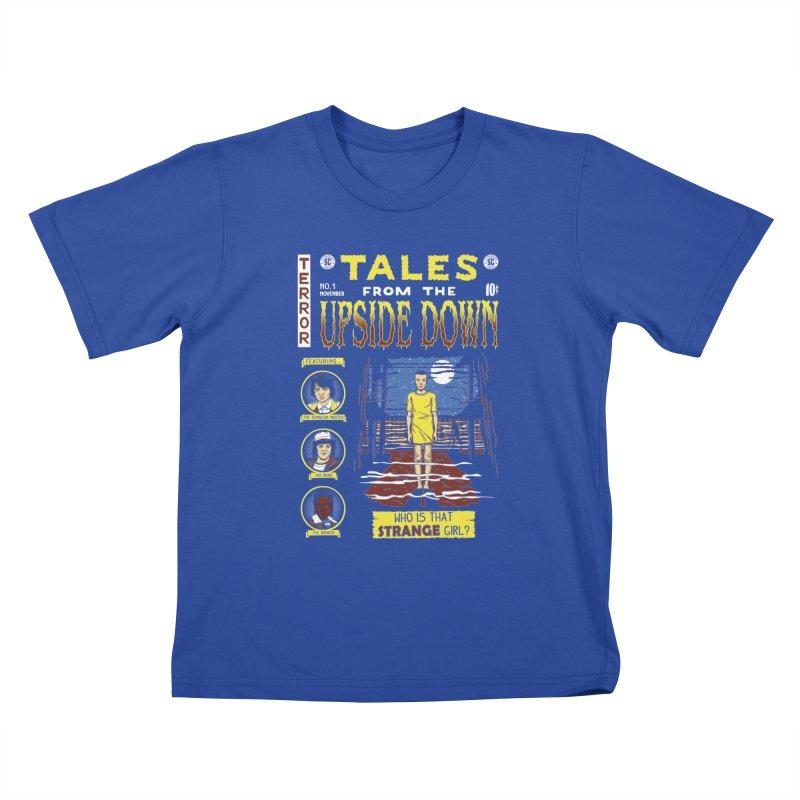 Tales from the Upside Down Kids T-Shirt by Olipop Art & Design Shop