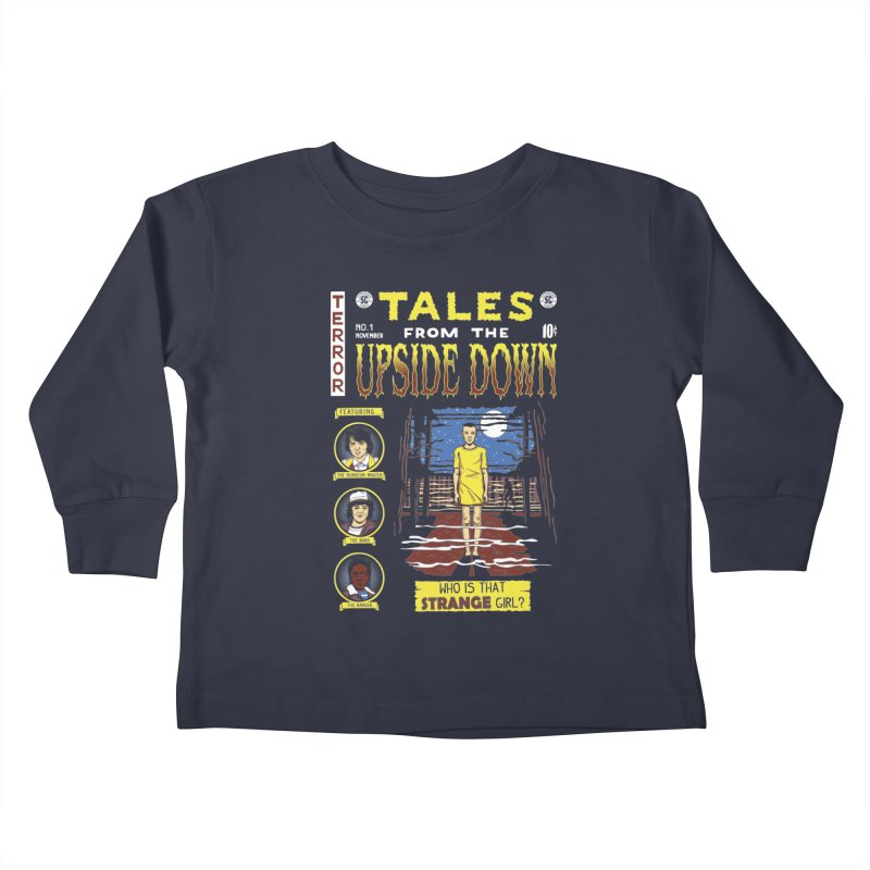 Tales from the Upside Down Kids Toddler Longsleeve T-Shirt by Olipop Art & Design Shop