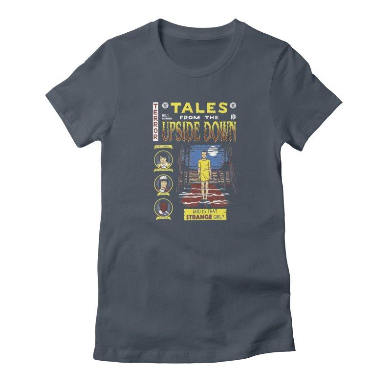 Tales from the Upside Down Women's T-Shirt by Olipop Art & Design Shop