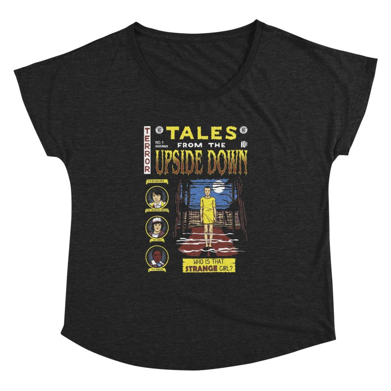 Tales from the Upside Down Women's Dolman Scoop Neck by Olipop Art & Design Shop
