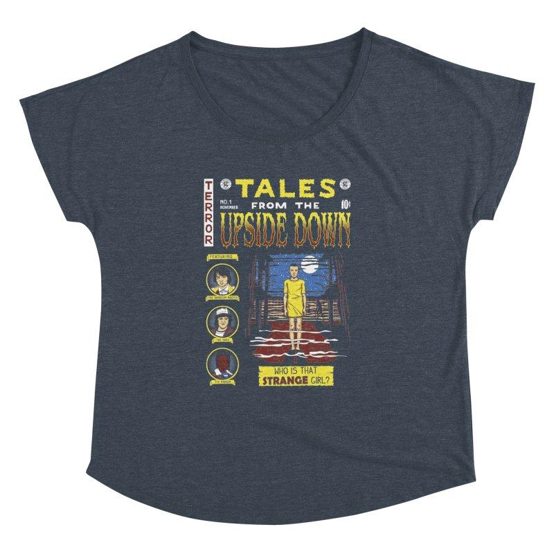 Tales from the Upside Down Women's Dolman Scoop Neck by Olipop Art & Design Shop