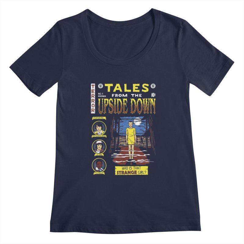 Tales from the Upside Down Women's Scoopneck by Olipop Art & Design Shop