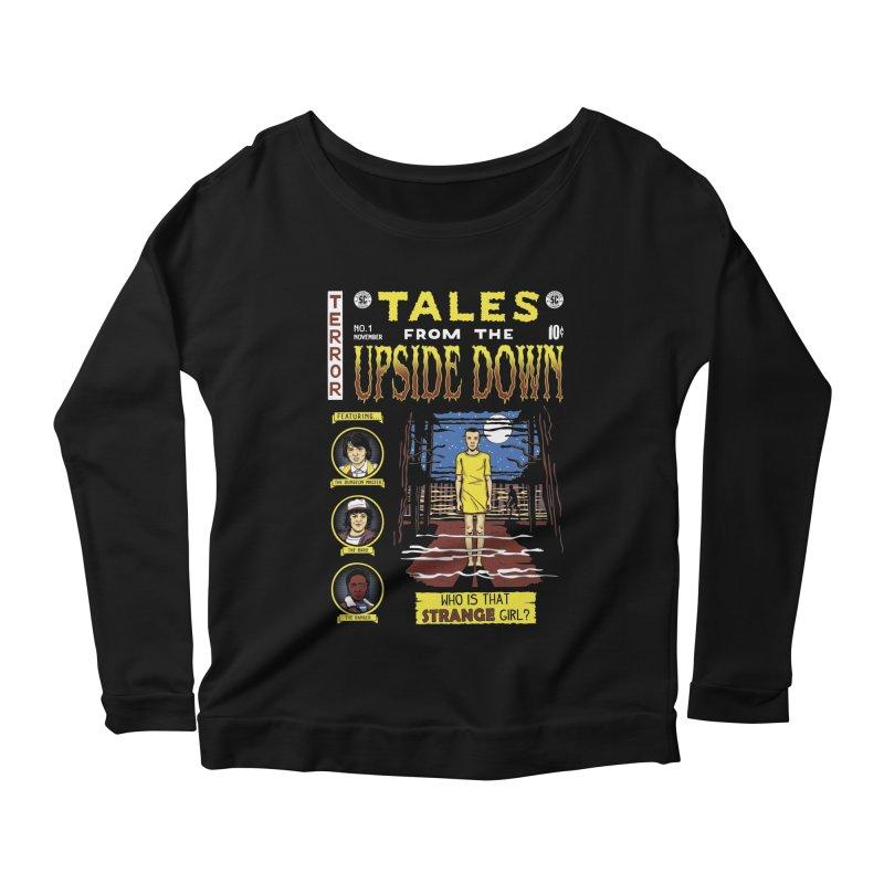 Tales from the Upside Down Women's Scoop Neck Longsleeve T-Shirt by Olipop Art & Design Shop