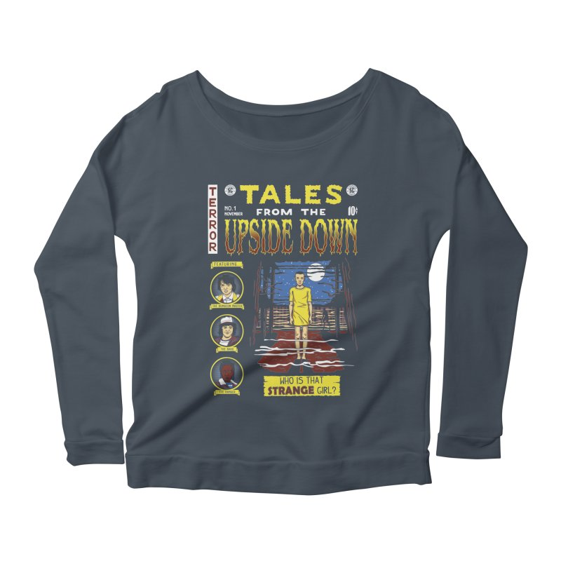 Tales from the Upside Down Women's Scoop Neck Longsleeve T-Shirt by Olipop Art & Design Shop