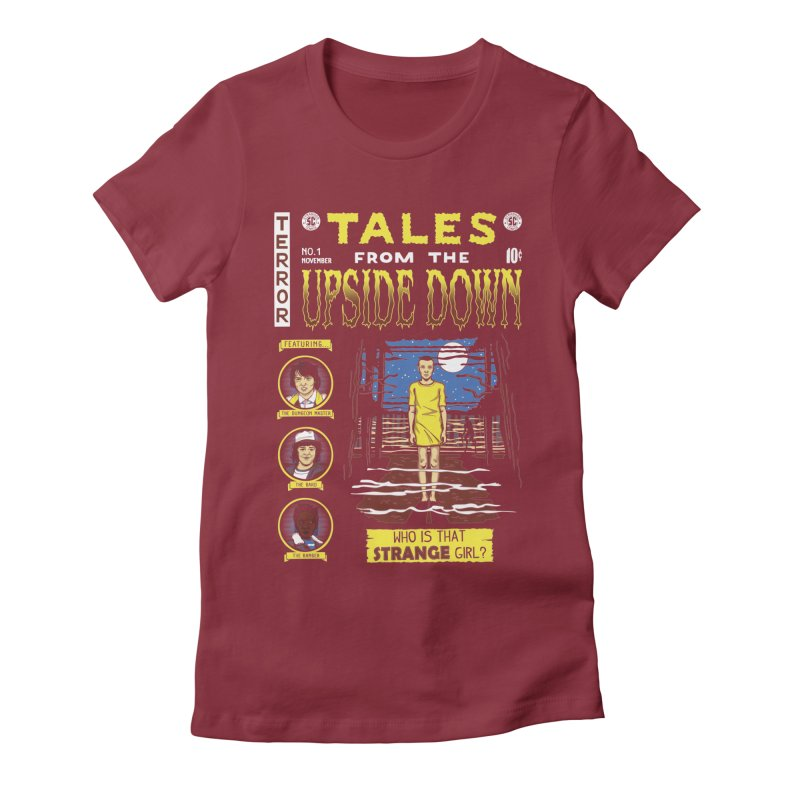 Tales from the Upside Down Women's Fitted T-Shirt by Olipop Art & Design Shop