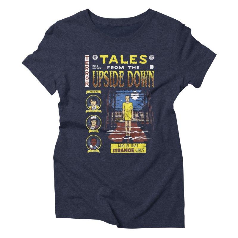 Tales from the Upside Down Women's Triblend T-Shirt by Olipop Art & Design Shop
