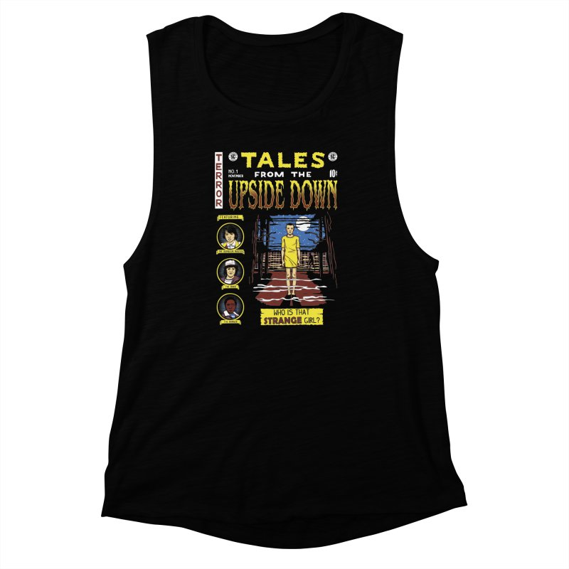 Tales from the Upside Down Women's Muscle Tank by Olipop Art & Design Shop