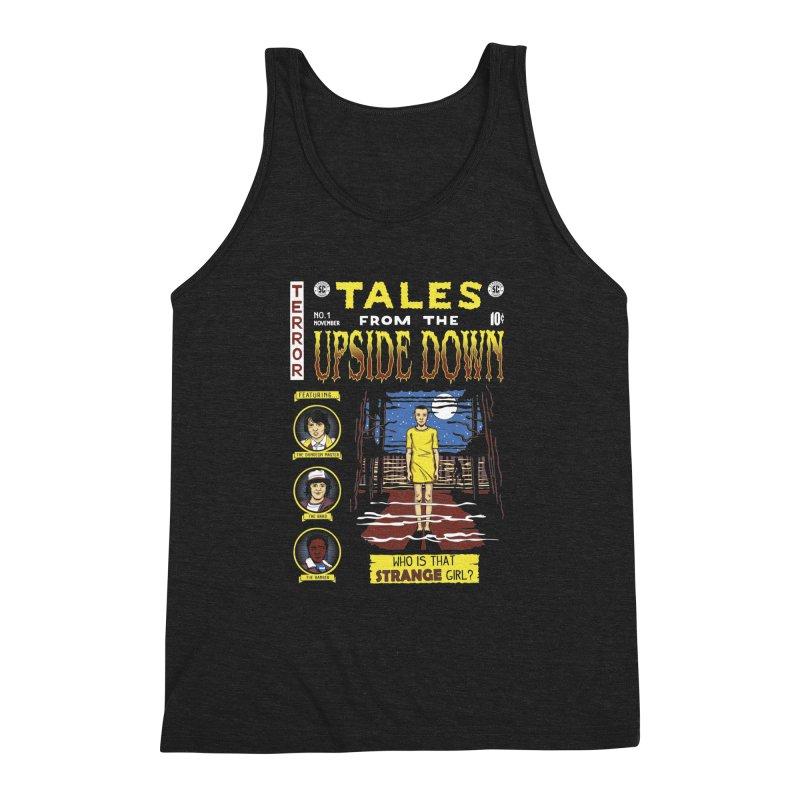 Tales from the Upside Down Men's Triblend Tank by Olipop Art & Design Shop