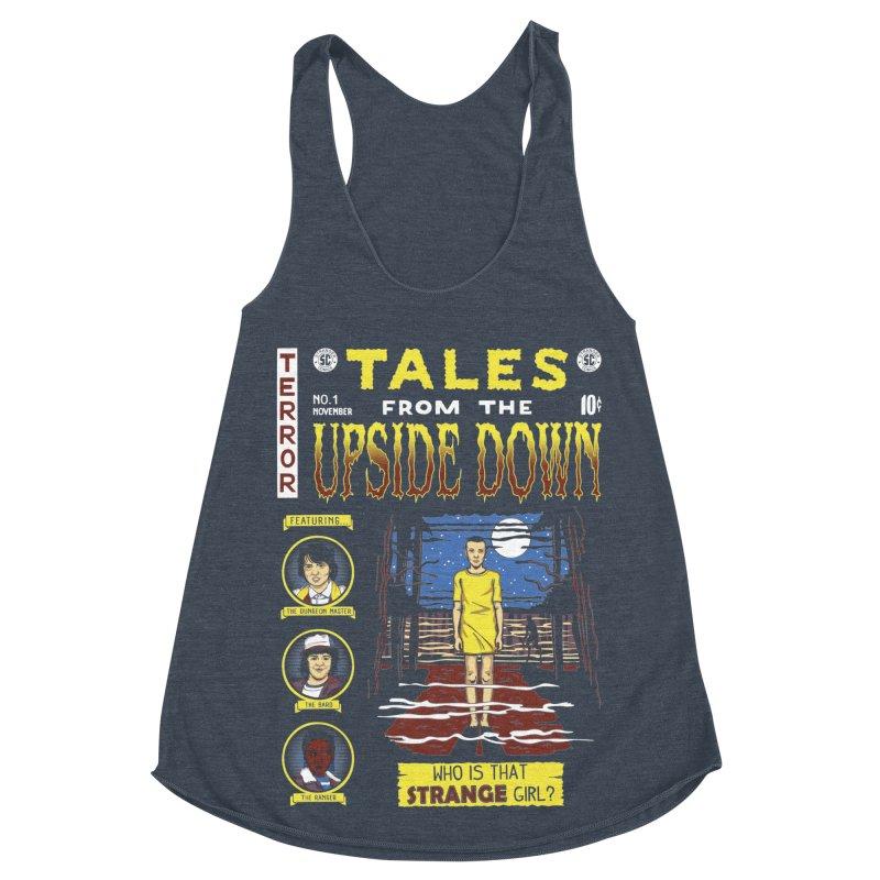 Tales from the Upside Down Women's Racerback Triblend Tank by Olipop Art & Design Shop