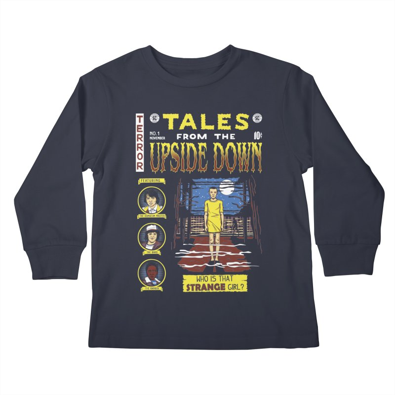 Tales from the Upside Down Kids Longsleeve T-Shirt by Olipop Art & Design Shop