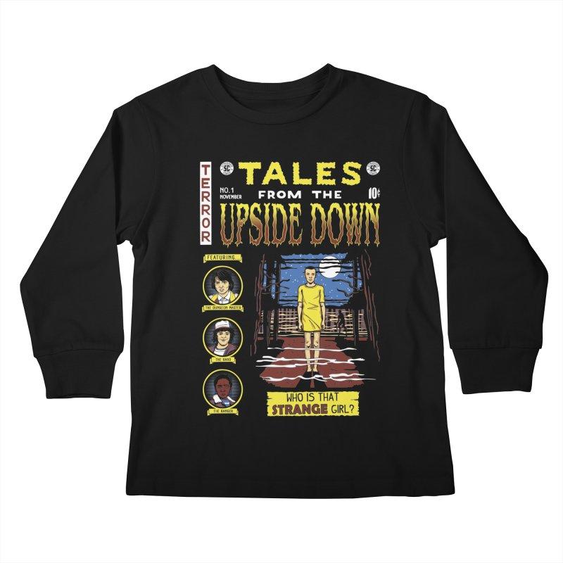 Tales from the Upside Down Kids Longsleeve T-Shirt by Olipop Art & Design Shop