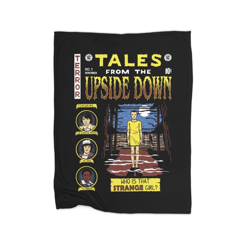 Tales from the Upside Down Home Fleece Blanket Blanket by Olipop Art & Design Shop