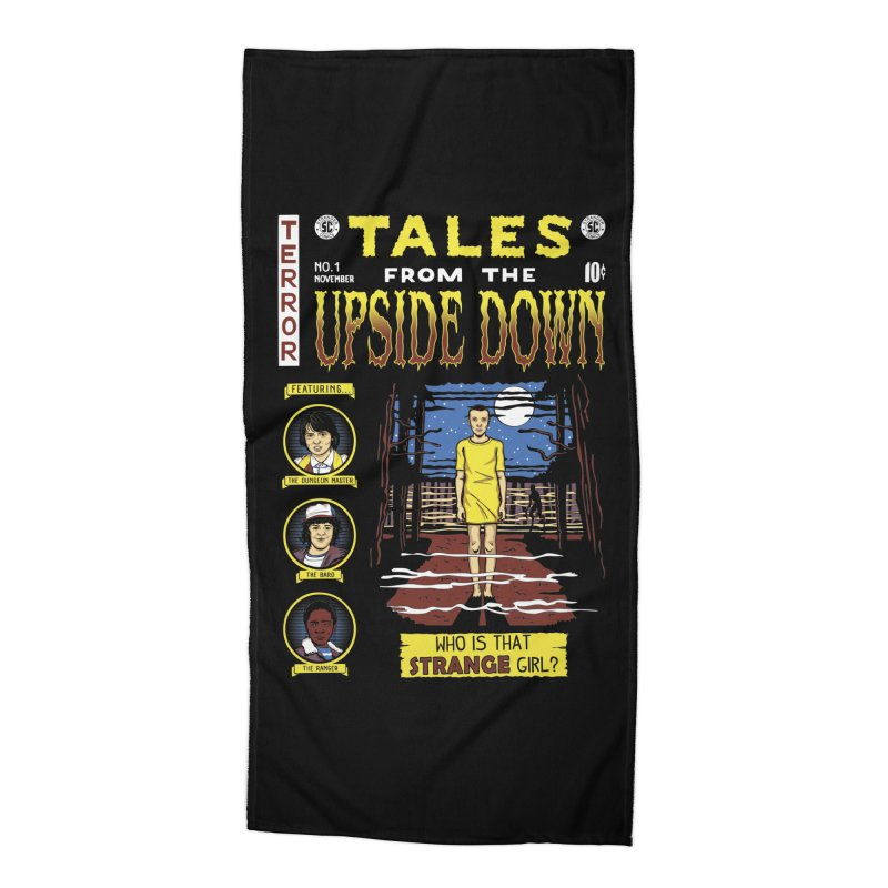 Tales from the Upside Down Accessories Beach Towel by Olipop Art & Design Shop