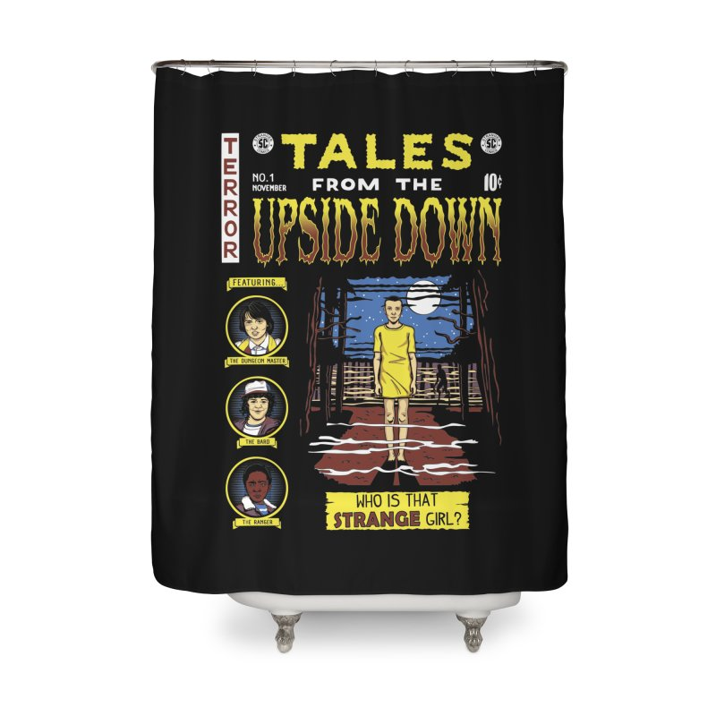 Tales from the Upside Down Home Shower Curtain by Olipop Art & Design Shop