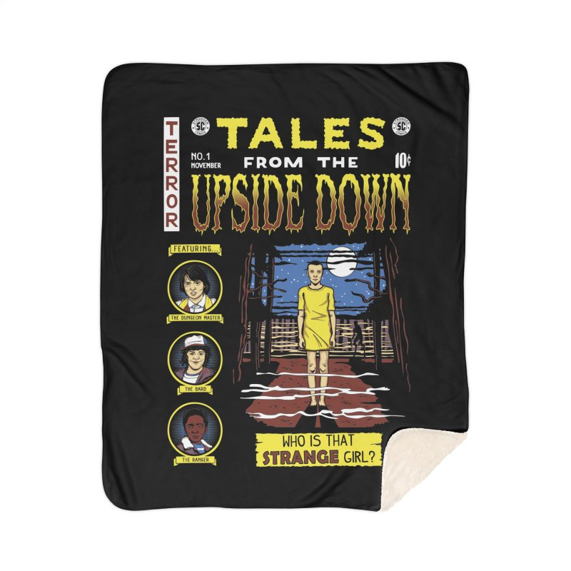 Tales from the Upside Down Home Sherpa Blanket Blanket by Olipop Art & Design Shop