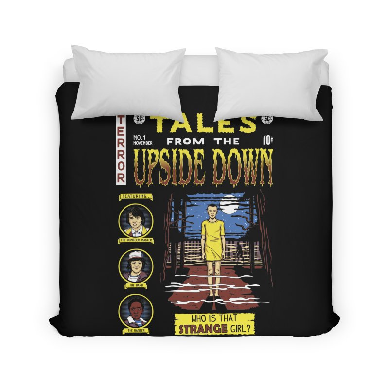 Tales from the Upside Down Home Duvet by Olipop Art & Design Shop