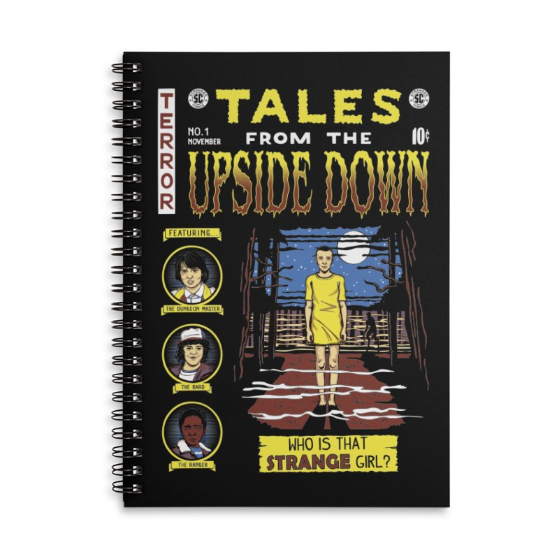 Tales from the Upside Down Accessories Lined Spiral Notebook by Olipop Art & Design Shop