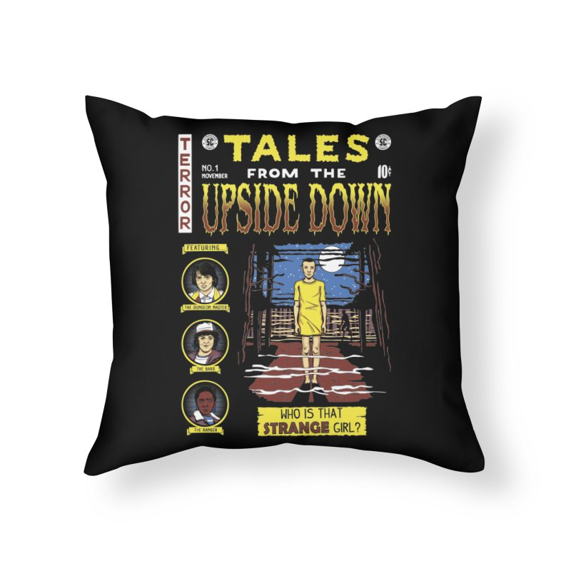 Tales from the Upside Down Home Throw Pillow by Olipop Art & Design Shop