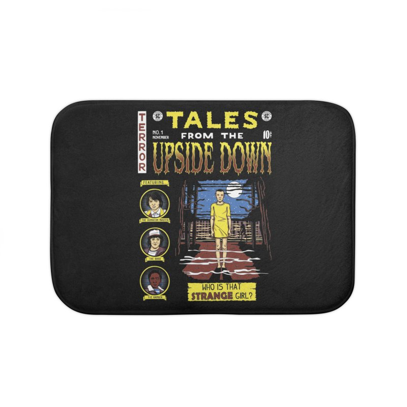 Tales from the Upside Down Home Bath Mat by Olipop Art & Design Shop