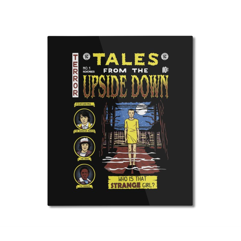 Tales from the Upside Down Home Mounted Aluminum Print by Olipop Art & Design Shop
